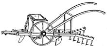 The drawing of the Seed-Planter by Blair used on the patent application in 1836.