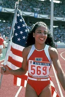 Flo Jo at the Seoul Olympic Games in 1988